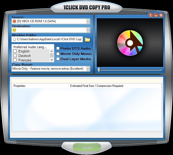 1CLICK DVD Copy Pro 5.1.3.2 - ENG