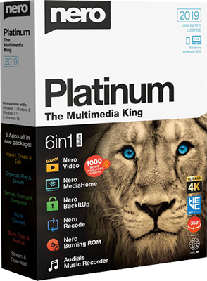 Nero Platinum Suite 2019 v20.0.07900 Multi - ITA