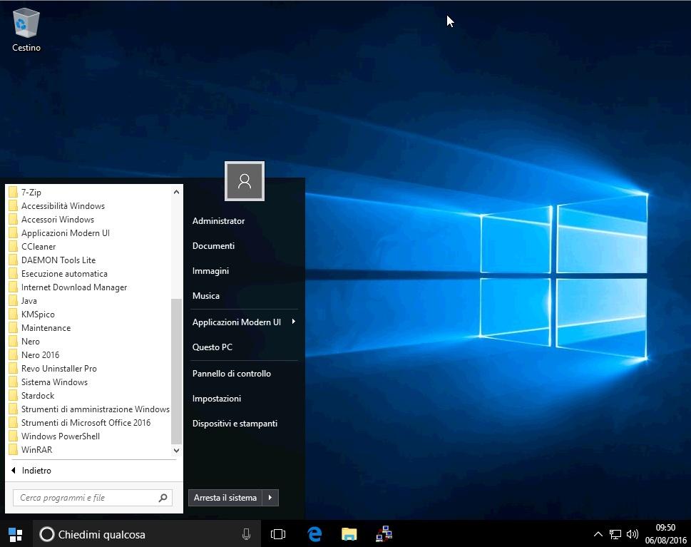 Microsoft Windows 10 Pro VL 1703 + Office 2016 & More - Agosto 2017 - Ita