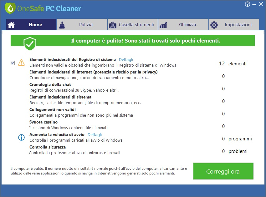 OneSafe PC Cleaner Pro v7.0.0.1.61 - ITA