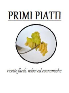Peccato di Gola - Primi Piatti. Ricette facili, veloci ed economiche (2013)